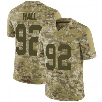 Men's P.J. Hall Oakland Raiders Nike Limited 2018 Salute to Service Jersey - Camo