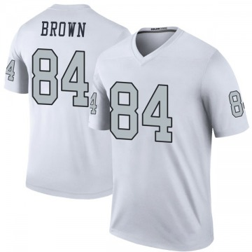 Youth Antonio Brown Oakland Raiders Nike Legend Color Rush Jersey - White