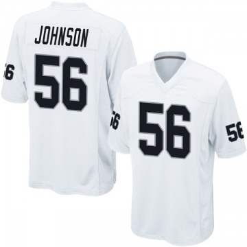 Youth Derrick Johnson Oakland Raiders Nike Game Jersey - White