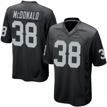Youth Dexter McDonald Oakland Raiders Nike Game Team Color Jersey - Black