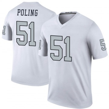 Youth Quentin Poling Las Vegas Raiders Nike Legend Color Rush Jersey - White