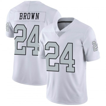 Youth Willie Brown Las Vegas Raiders Nike Limited Color Rush Jersey - White